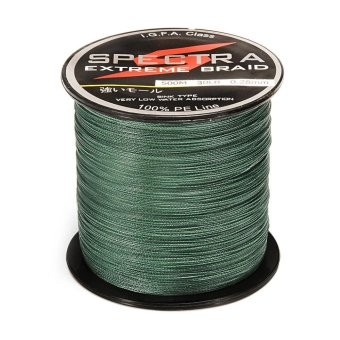 100%PE Plastic Braided Fishing Line 30LB Test Moss 0.28mm Diameter 500M Length - intl Price Philippines