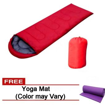Folding Outdoor Sleeping Bag (Red) Free Yoga Mat (Color may Vary) Price Philippines