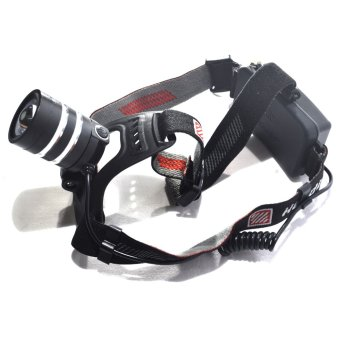 Harga Super Bright Adjustable LED Head Lamp (Black)