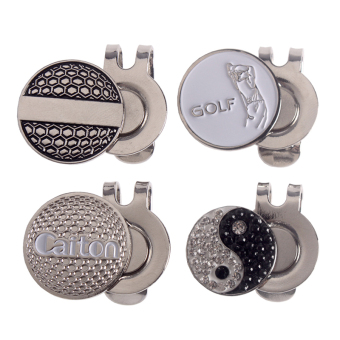 Andux 4pcs/set Golf Hat Clips with Golf Ball Markers GMJ-01 - intl Price Philippines