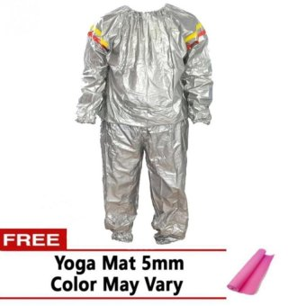 Harga Sauna Suit with FREE Yoga Mat 5mm (Color May Vary)