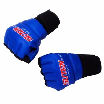 Training Sparring Half Mitts Leather MMA Muay Thai Blue Pair Price Philippines