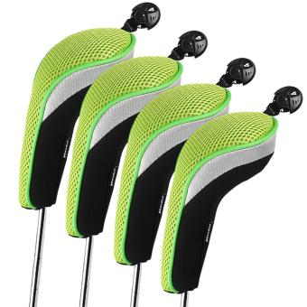 Andux 4pcs/set Golf Hybrid Club Head Covers Headcovers Interchangeable Green Price Philippines