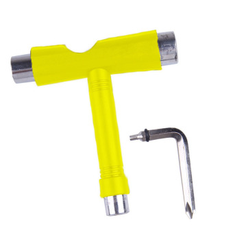 Harga Amart Roller Skate Skate Scooter Skateboard T Type Wrench Tools (Yellow) - intl