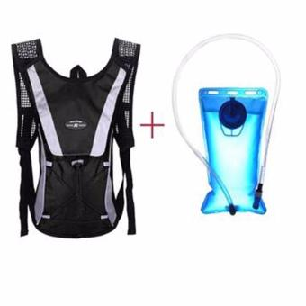Harga 2L Water Bladder Bag Backpack + Hydration Packs Hiking Camping Cycling - intl