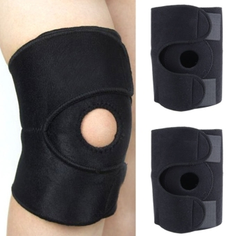 Yidabo New 2 PCS Knee Compression Sleeve OPEN PATELLA Kneecap Coverage Black Price Philippines