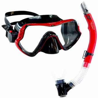 Aquagear M11 Mask & Snorkel Set Red/Black Price Philippines