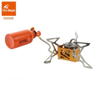 Harga Fire Maple FMS-F3 Engine Light Weight Outdoor BBQ Picnic Camping Split Oil Petrol Fuel Stove with 0.5L Fuel Bottle 3275W 321g - intl
