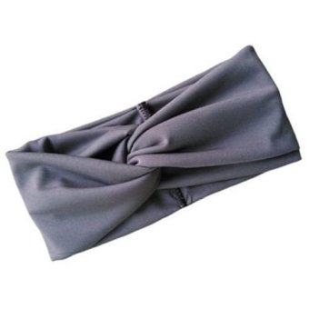 Harga Okdeals Girls Turban Twist Knot Head Wrap Headband Grey