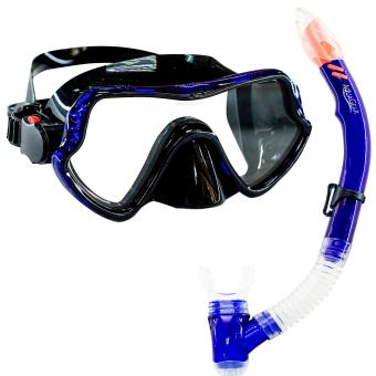Aquagear M11 Mask and Snorkel Set Teal Blue/Black Price Philippines