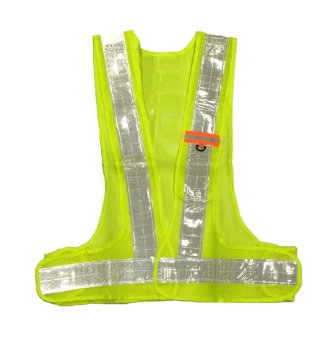 Hi-Viz Reflector Safety Vest with ID Holder (Yellow Green) Price Philippines