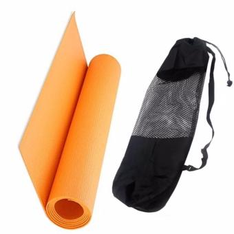 Yoga Mat 68x24 With Cloth Net Texture Yoga Mat Bag (Color May Vary) Price Philippines