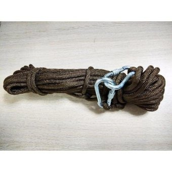 Kernmantle Safety Rope Climbing Rappelling Rescue Escape 20m (Brown) Price Philippines