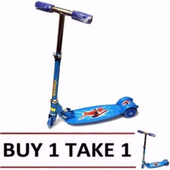 Harga 508 type Ride-On Push Scooter for Kids with laser wheel (Blue) BUY 1 TAKE 1