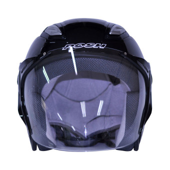 Posh Open Face Titan 7 Motorcycle Helmet (Plain Black) Price Philippines