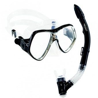 Aquagear M21 Mask & Snorkel Set Black/Clear Price Philippines