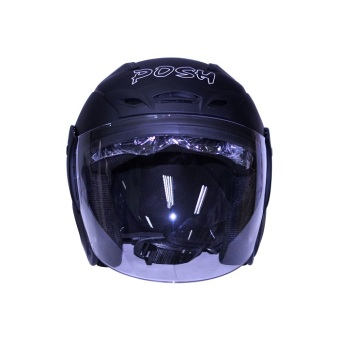 Posh Open Face Titan 3 IShield Motorcycle Helmet (Matte/Frosted Black) Price Philippines