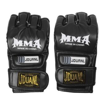 MagiDeal MMA UFC Grappling Thai Gloves Fight Boxing Punch Bag Training Pads Black - intl Price Philippines