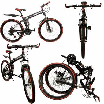 Harga Phoehixhub 26' Land Rover limited edition All terrain Light weight Aluminum Foldable Mountain TRAIL bike with dual SHOCK suspension (RED) 102