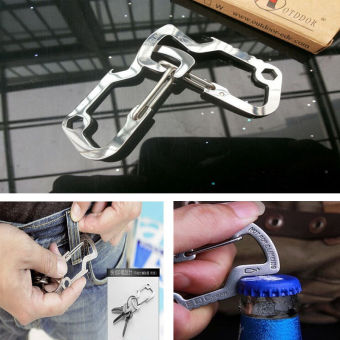 Outdoor Survival Camping Hiking Rescue Gear Keychain - intl Price Philippines