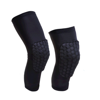 A Pair Professional Compression Crashproof Antislip Knee Shin Sleeves Sports Basketball Kneepads Honeycomb Knee Pads Leg Brace Sleeve Protective Pad Support Guard Protector Gear Black Short L - intl Price Philippines