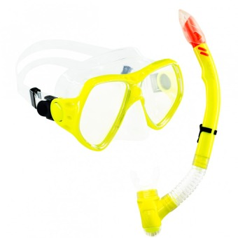 Aquagear M21 Mask & Snorkel Set Neon Yellow/Clear Price Philippines