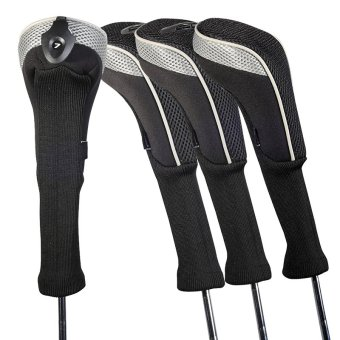 Andux 4pcs/set Long Barreled Golf Head Covers Protection Case CTMT-01 Gray Price Philippines