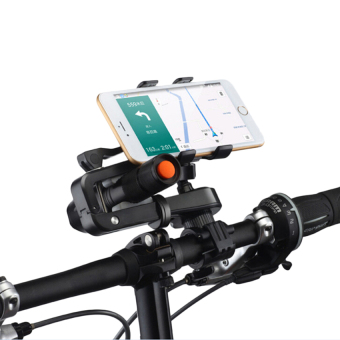 Harga HKS Bike Handlebar Mount Phone and Flashlight Holder - intl