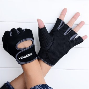 Jo.In Cycling GYM Half Finger Gloves Exercise Training (Gray) - 2