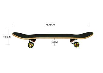 JOY The skeleton pattern adult skateboard - 2