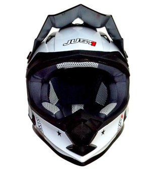 Just 1 by Nitek Motard 0006 Motorstar Agent Helmet (Orange)