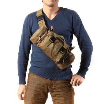 Khaki Outdoor Military Tactical Waist Pack Camping Hiking Pouch Bag