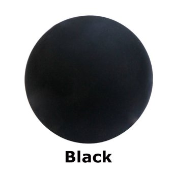 Lacrosse Massage Ball Exercise Therapy Crossfit Rubber Ball Black - 2