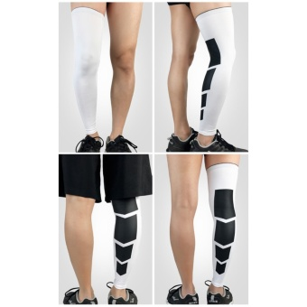 Lengthen Leg Support Sleeves, Compression Mens Over Knee Leg Tights Supports for Basketball Workout GYM Running Cycling Football Sport Single(1 Piece) M - intl - 2