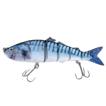 Life Like Hard Bait Multi Jointed Segmented Section Fishing Lure with Treble Hooks