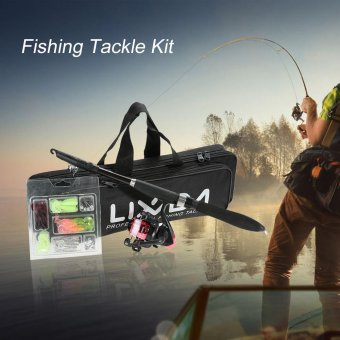 Lixada Professional Fishing Tackle Kit Portable Lure Rod Reel Set with 1.6m Fishing Rod Fishing Reel Fishing Bait Suit Delicate Fishing Bag - intl