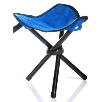 Lychee Outdoor Three-Legged Foldable Folding Stool Camping BeachFishing Chair Garden Seat Small Travelling Stool