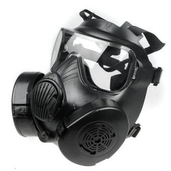 M50 Paintball Full Face Skull Gas Mask Black - 4