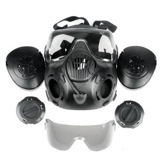 M50 Paintball Full Face Skull Gas Mask Black - 3