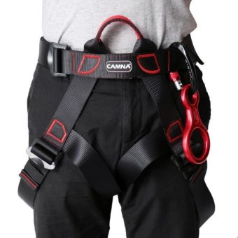 MagiDeal New Rock Climbing Sit Harness + 35KN Figure 8 Belay Device + 25KN Carabiner - intl - 3