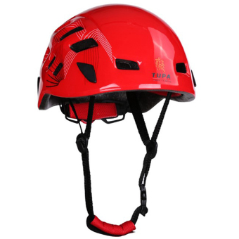 MagiDeal Outdoor Mountaineering Helmet Safety Climbing Rappelling Protector Gear Red - intl