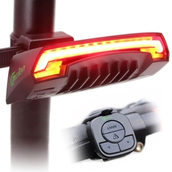 Meilan Smart Bike Tail Light X5 USB Rechargeable with Wireless Remote Turn signals Laser Beams for Moutain Bike,BMX Bike,Road Bicycle and Hybrid Bike 85 Lumens - intl