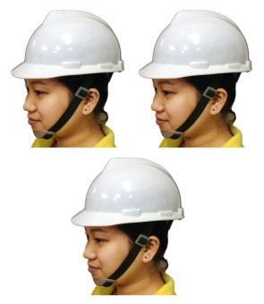 Meisons Safety Helmet Hard Hat PE Vguard (White) Set of 3