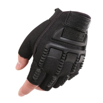 Men Semi-fingered Adjustable Outdoor Sports Hunting ShootingDriving Motorcycle Riding Cycling Mountain Climbing MilitaryTactical Fitness Hand Half Gloves - intl