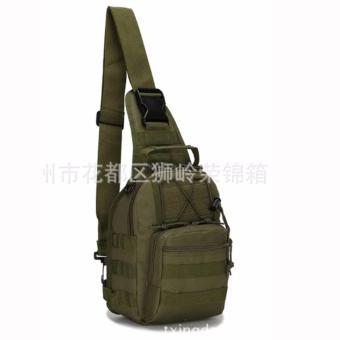 Men Tactical Outdoor Sport Crossbody Sling Shoulder ChestWaterproof Bag Backpack (Olive) - 2