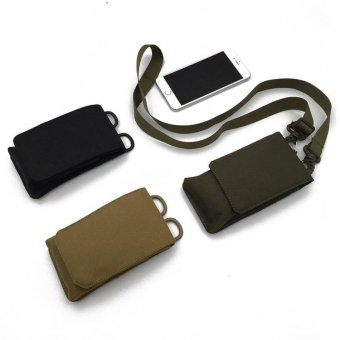 Military MOLLE Smartphone Universal Army Mobile Phone Belt Pouch -intl