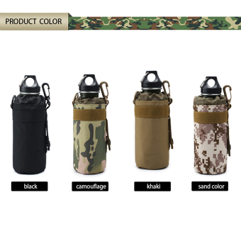MOLLE Outdoor Water Bottle Pouch Bag Carrier(black) - 2