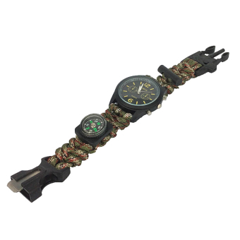 Moonar Outdoor Camping Paracord Compass Function Survival Bracelet Wrist Watch Price Philippines