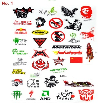 New Mountain Bike Bicycle Cycling Sticker Skateboard DecalDecoration Scratching Sticker Random Pattern - intl - 3