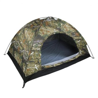 New Outdoor 3 Person Camping and Backpacking Tent (Camouflage)